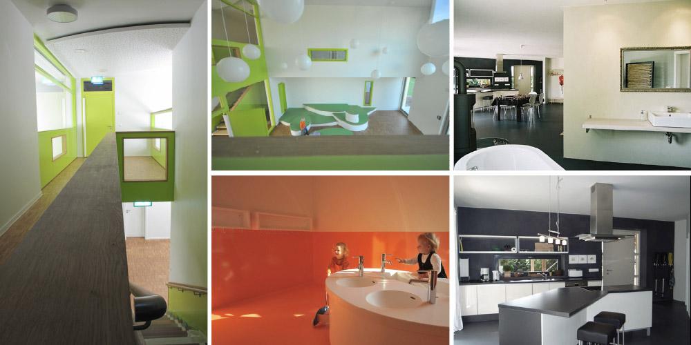"""Innenarchitektur Kindergarten """"Am Grünland""""/ Umbau eines Lagergebäudes Zudar"""