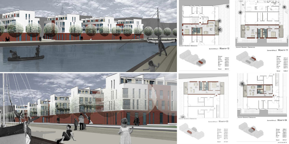 "Competition of the urban development ""A- Quartiere"" 1.st prize Neues"
