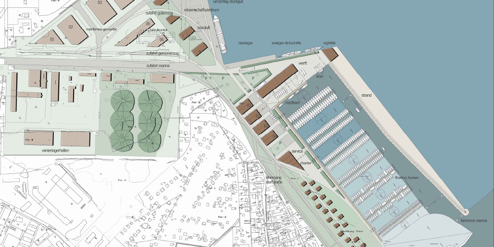 Sportboothafen Marina Greifswald/ Ladebow