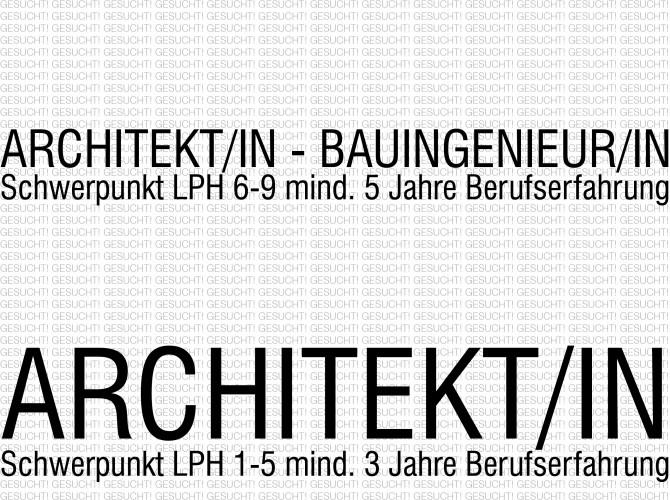 Architekt+Bauing gesucht